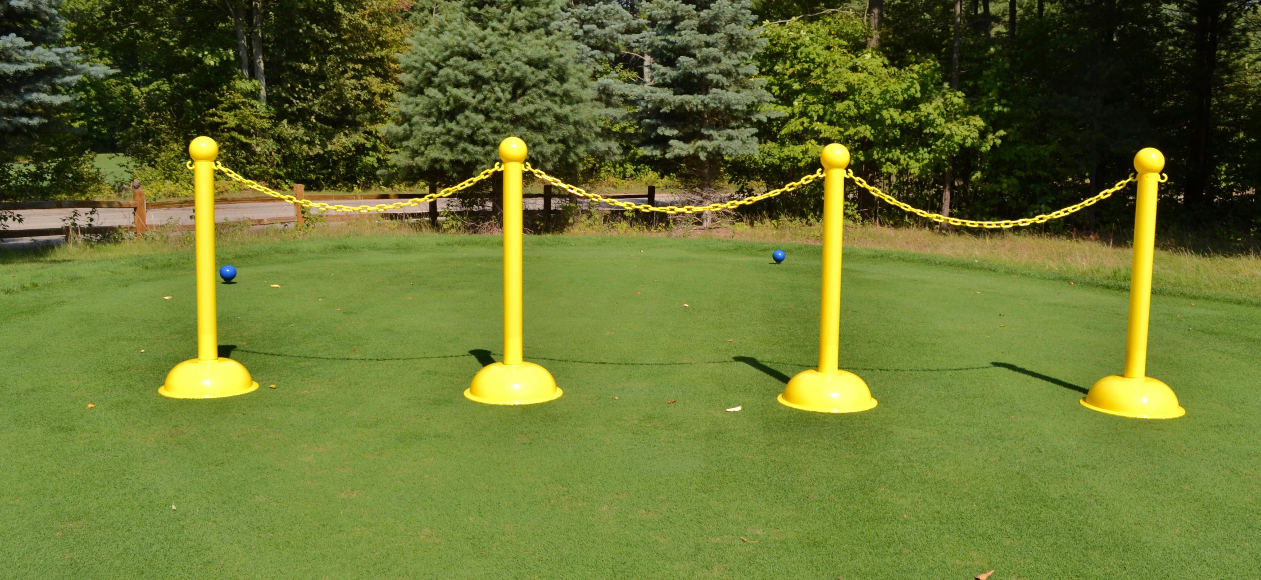 Plastic Stanchions for Indoor and Outdoor Plastic Chain Barriers