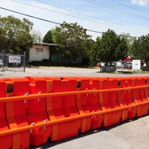 Off the Wall Safety MB350 Roadway Plastic Traffic Safety Barricade