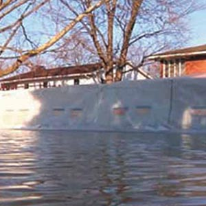 Yodock Flood Mitigation System with Plastic Barriers