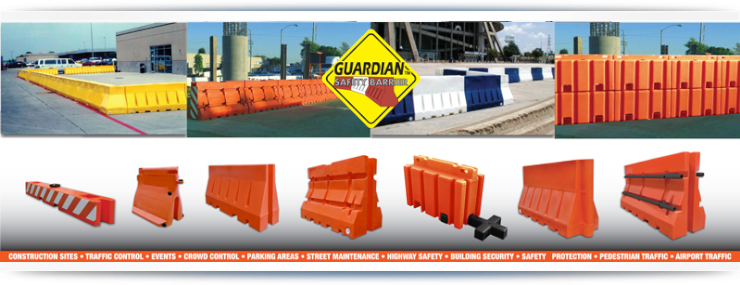 Armorcast Barriers - Guardian Safety Barriers for Plastic Jersey Barricades