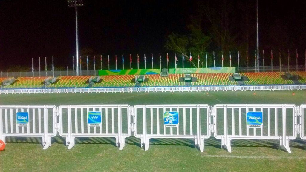 LineEx Plastic Barriers in uUse at the 2016 Rio Olympics